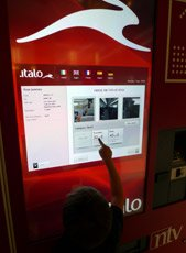 Italo ticket machine at Milan