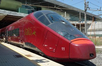 An Italo train at Rome Tiburtina