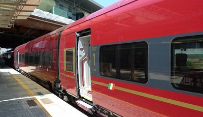 Italo train at Rome Tiburtina station