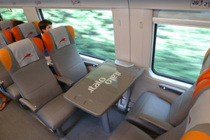 'Smart' (2nd class) seats on NTV's new Italo train