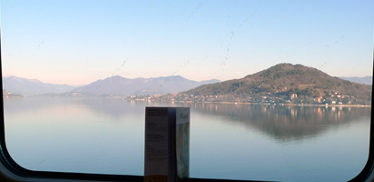 Lake Maggiore, seen from a Milan to Basel train