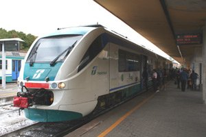 Local train from Florence to Siena