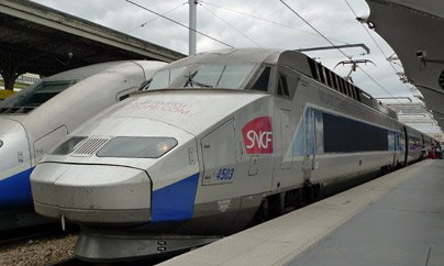 TGV train from Paris to Turin & Milan, seen at the Gare de Lyon in Paris