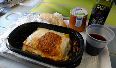 TGV food - set menu lasagne