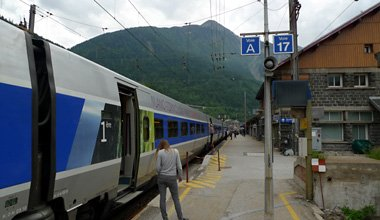 The TGV from Paris to Milan stops at Modane