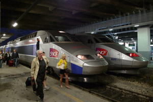 The TGV arrived at Milan Porta Garibaldi