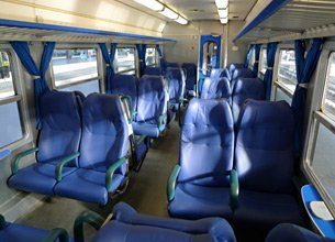 2nd class seats on a regional train