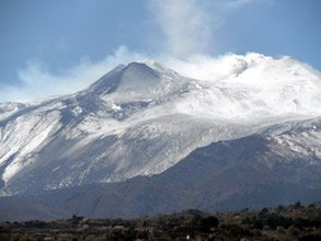 Mount Etna, seen from a Siracuse & Catania to Rome InterCity train