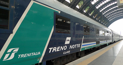 Standard sleeping-car on Italian overnight train