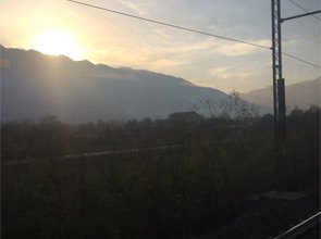 Scenery from the train between Oulx and Turin