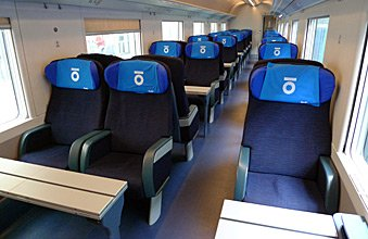 1st class seats on Thello train from Nice to Milan