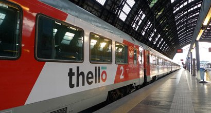 Thello train from Marseille & Nice to Milan, at Marseille St Charles