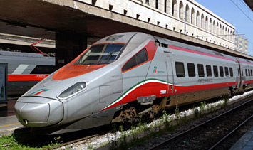 The best trains in Italy:  A Eurostar Italia ETR500 power car