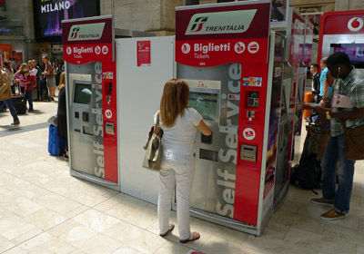 Trains in Italy:  How to use the self-service ticket machines