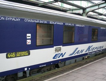 The Jan Kiepura EuroNight train from Amsterdam to Warsaw