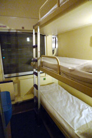 3-bed sleeper on the train from Amsterdam to Warsaw