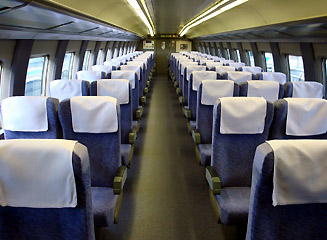 Ordinary seats on a series 500 shinkansen train
