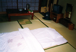 A room in a traditional Japanese 'Ryokan'