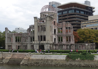 Hiroshoma Atomic Bomb Dome by day