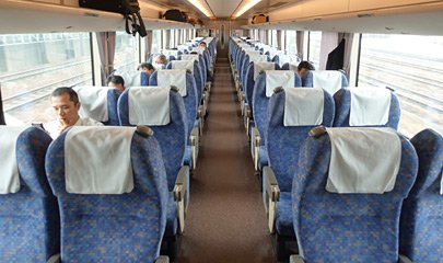 "Ordinary class seats on a Thunderbird Limited Express"" width=""405"" height=""240"