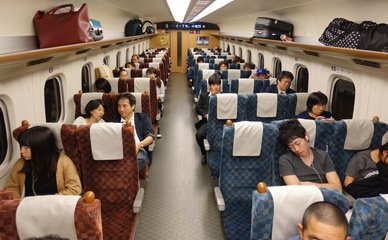 Green Car seats on N700 JR Kyushu shinkansen