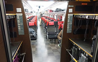"Narita Express luggage space"" width=""375"" height=""240"