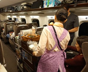 Shinkansen refreshment trolley