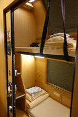 Twin berth sleeper on the Sunrise Seto