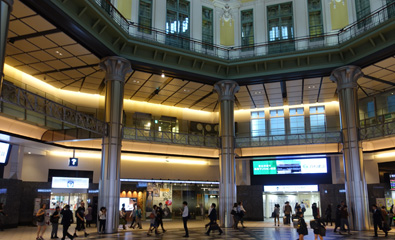 Inside Tokyo station's Marunouchi North Entrance
