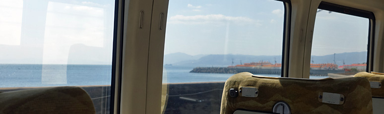 Coastal view from the train between Kyoto & Himeji