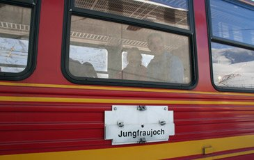 The train to Jungfraujoch...