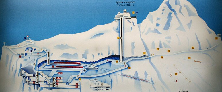 Plan of the Jungfraujoch complex