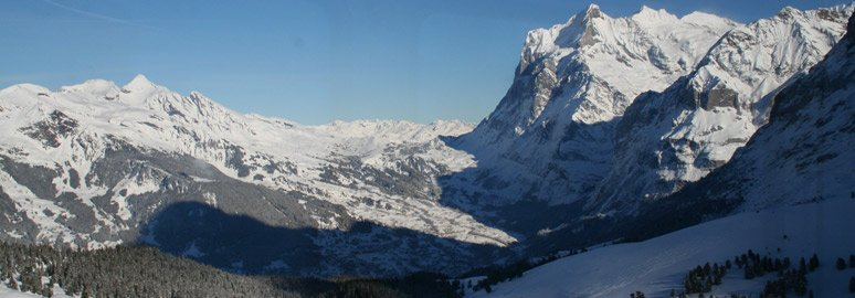 View from the train from Grindelwald to Kleine Scheidegg
