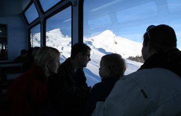 Taking the train to Kleine Scheidegg