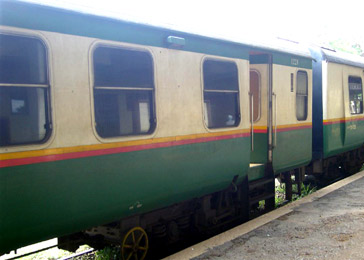 Sleeping-car exterior, Nairobi to Kisumu train