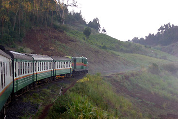 The Kisumu to Nairobi train