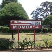 Mombasa station sign