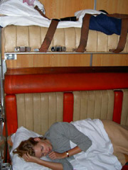 1st class sleeper on the Nairobi - Mombassa train, Kenya
