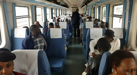 2nd class seats on the SGR train