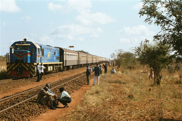 Train travel in Kenya:  The Nairobi-Mombasa train