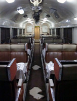 Restaurant car interior