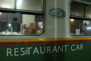 Restaurant car exterior, Nairobi to Mombasa train