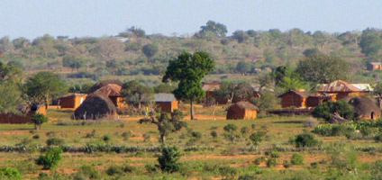 Scenery from the train in Kenya