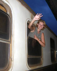 On the Nairobi - Mombassa train