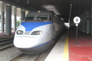 Seoul to Busan by KTX high-speed train