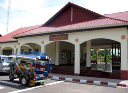 The new railway station at Tha Naleng, Laos.