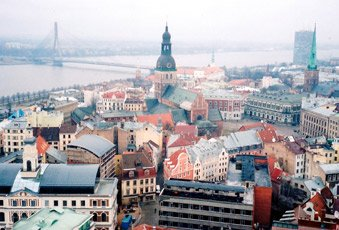 Central Riga, seen from the tower of the 'Petera Baznica' church