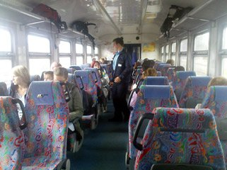 Tallinn to Riga by train:  Seating on the Valga-Riga train
