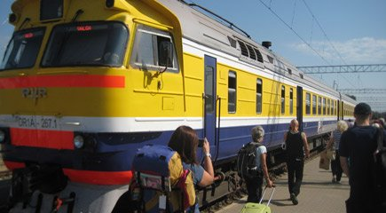 Tallinn to Riga by train:  This is the Valga-Riga Latvian train