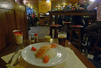 Food at O'Conway's Pub, Lille Europe station